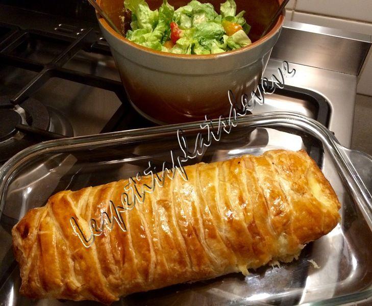 Feuilleté jambon,pommes de terre et fromage de raclette