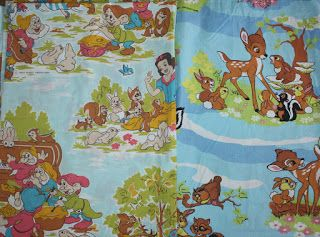 Recent finds for #ebay : vintage French #disney bed sheets and more