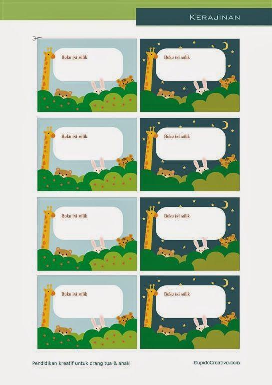 kerajinan gunting tempel anak balita/TK, stiker binatang/hewan di hutan