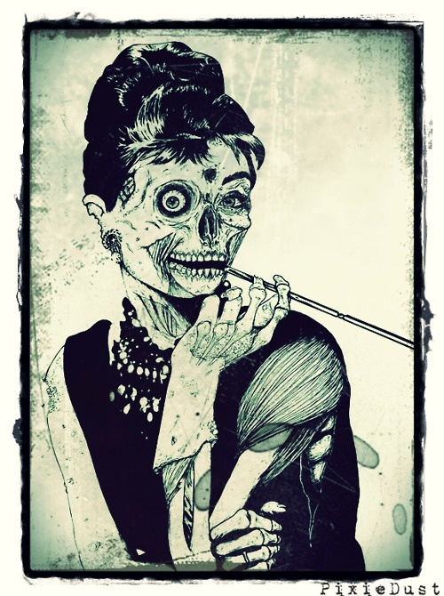 Audrey Hepburn. I have this on a Threadless t-shirt. I lurve it!