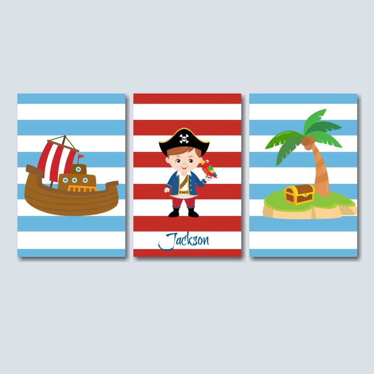 Pirates Wall Art,Pirate Ship Treasure Chest Kids Room Wall Art,Pirates Red Blue Kids Room Decor,Pirates Bathroom Decor-UNFRAMED  3 C239 by SweetBloomsDecor on Etsy https://www.etsy.com/listing/251190426/pirates-wall-artpirate-ship-treasure