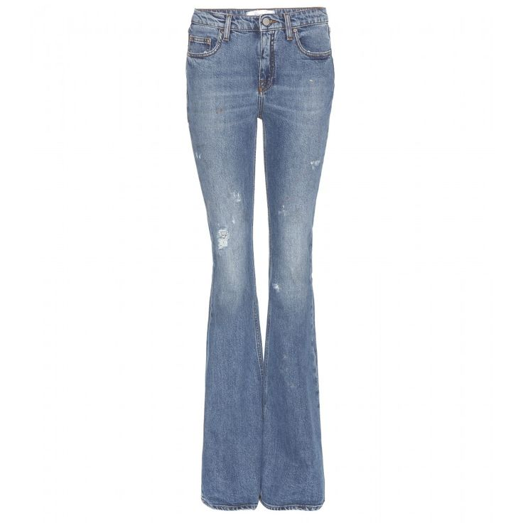 Victoria Beckham Denim - Flared jeans - Victoria Beckham Denim gives us the ultimate worn jeans, even complete with paint stains. The off-duty style's flared silhouette is given a cool finish with rips and raw edges. Style with simple sweaters and elevate with wedges. seen @ www.mytheresa.com