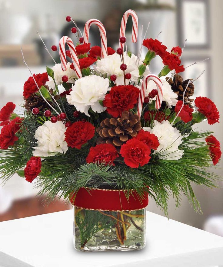 Best christmas flowers and centerpiece images on