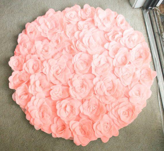 Girly Rugs For Bedroom: Round Rosette Rug Photo Prop/ Baby Nursery/ Bathroom