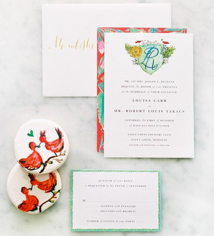 """483 Likes, 6 Comments - Martha Stewart Weddings (@martha_weddings) on Instagram: """"@rabbitrabbitdesignhouse created a colorful, modern invitation suite for this couple's big day. A…"""""""