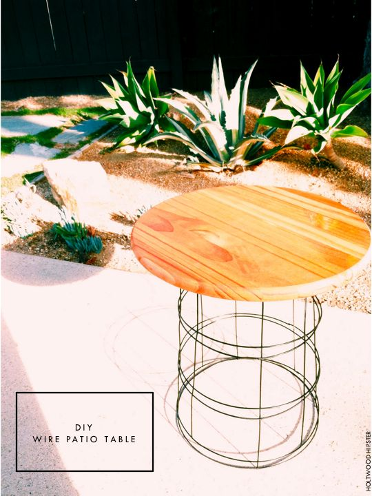 Holtwood Hipster: DIY Wire Patio Table