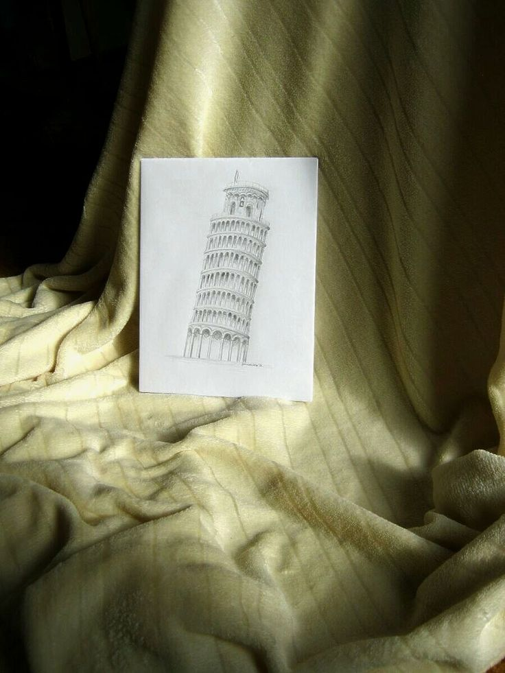 Pencil drawing: Tower in Pisa