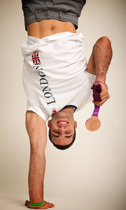 Danell Leyva, Cuban-born American Olympic gymnast. Barely 2 years old, he with his mother defected from Cuba, relocating to Miami. He gain national attention when he won the Bronze Medal in men's gymnastics at the 2012 London Olympics, becoming the 1st Latino-American to do so. He is also a U.S national all-around gold medalist, World Championships gold medalist, & a 3x Pacific Rim Championships gold medalist. A  specialist on parallel & the horizontal bars, he has a sponsorship with Adidas.