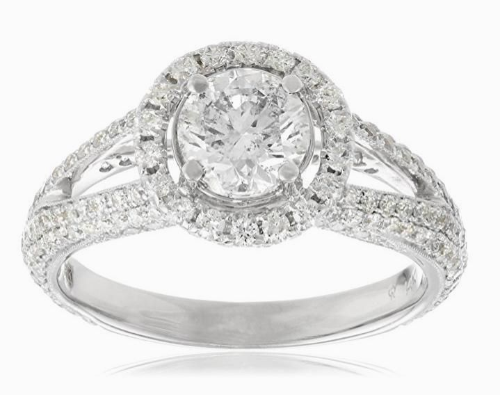 Best Just Listed Stylish k White Gold Certified Wedding Ring http amzn to