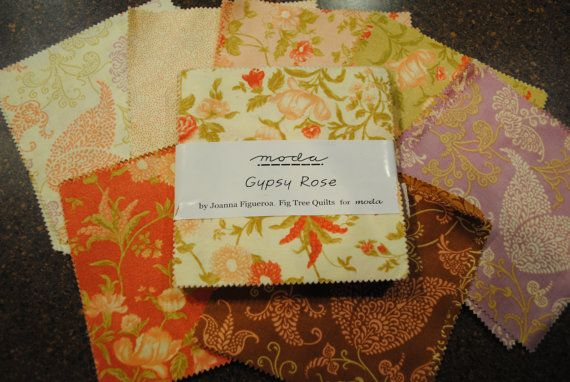 Gypsy Rose Charm Squares by Fig Tree for Moda Fabric by sweetjane