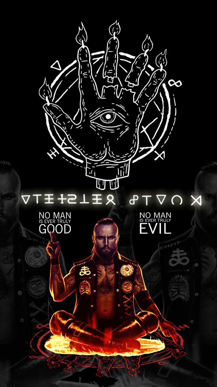 Aleister Black Phone Wallpaper Cult Demon Darkside Pinterest