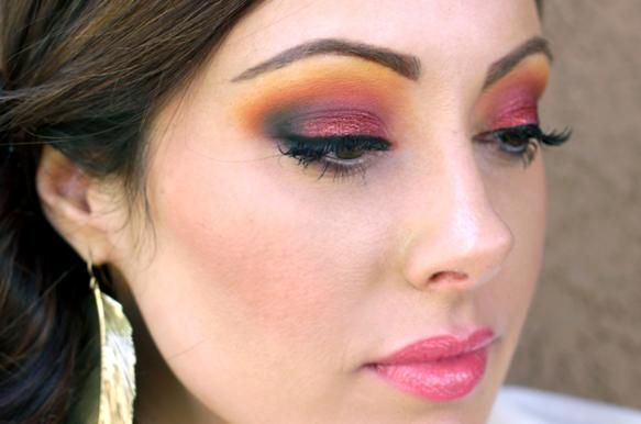 "Taquila Sunrise Inspired Makeup by Marlena ""Makeup Geek"""
