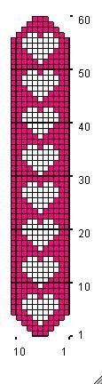 Open Hearts Bookmark - free crochet pattern