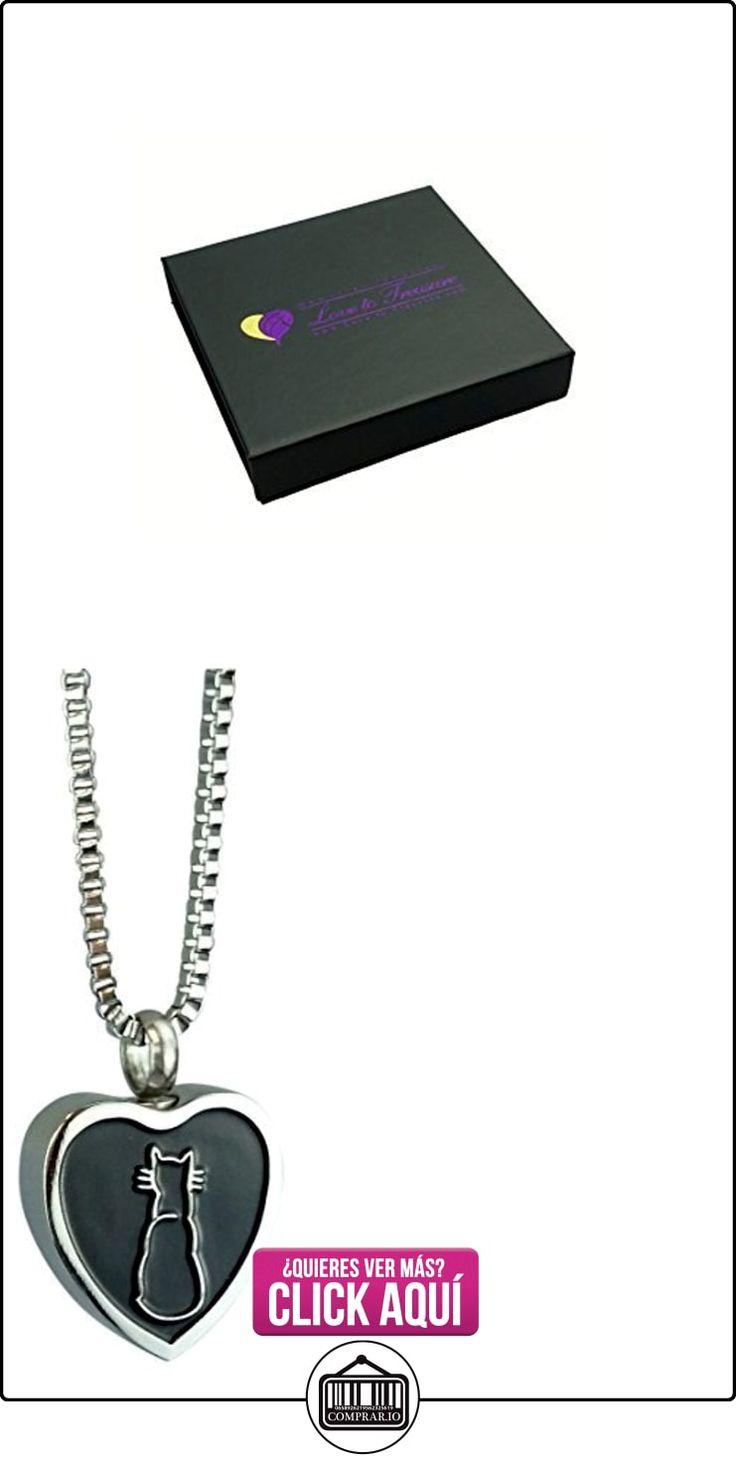 Gato corazón urna colgante - memorial de la ceniza del recuerdo - Joyería cremación  ✿ Joyas para mujer - Las mejores ofertas ✿ ▬► Ver oferta: https://comprar.io/goto/B00U6AJ4RY