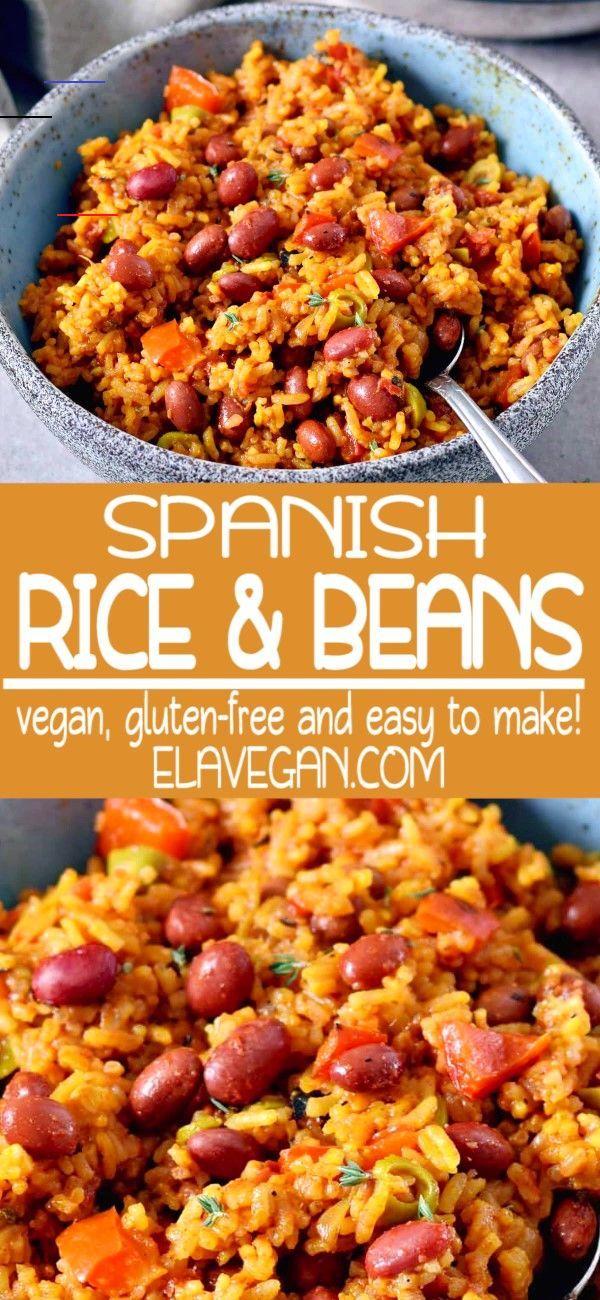 Spanish Rice And Beans Spanishmeals Rezepte Vegetarische Gerichte Rezeptideen