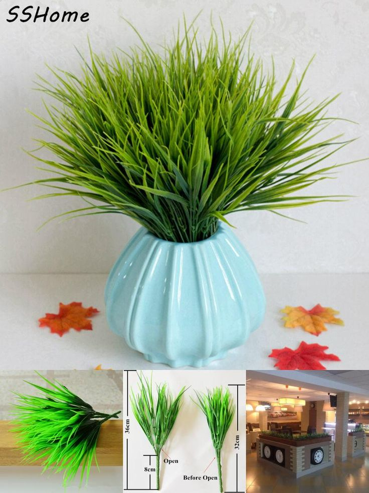 [Visit to Buy] Green Artificial Plants 36cm Length Simulation Plastic Grass Leaves For Home Shop Garden Decoration #Advertisement