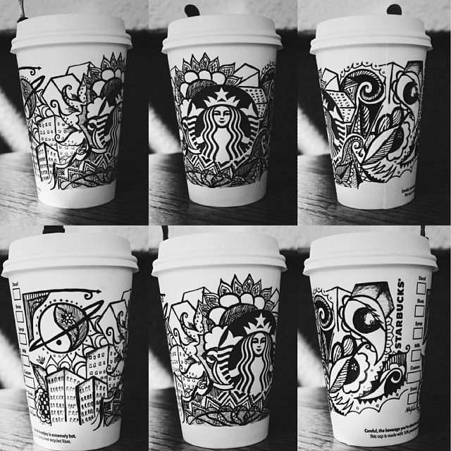 326 best images about Starbucks Cup Art on Pinterest