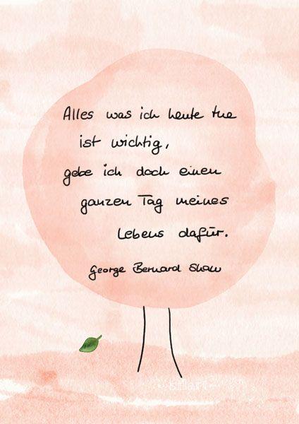 Ein Tag meines Lebens, Lettering Card, Quote Art, Word Art, Statements, Zitate, Sprüche, Karten