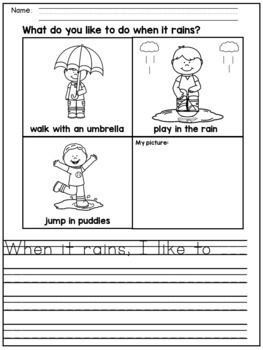 Spring Writing Prompts For Kindergarten And 1st Grade Dana S