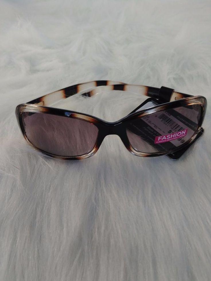 Women Fashion Foster Grant Brown Sunglasses 100% UVA & UVB #FosterGrant #Rectangular