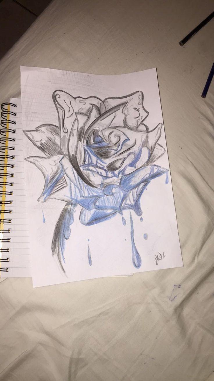Rose bleeding blue blood