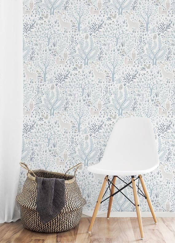 Light Woodland Forest Removable Wallpaper Nursery Wallpaper Etsy Removable Wallpaper Nursery Nursery Wallpaper Removable Wallpaper