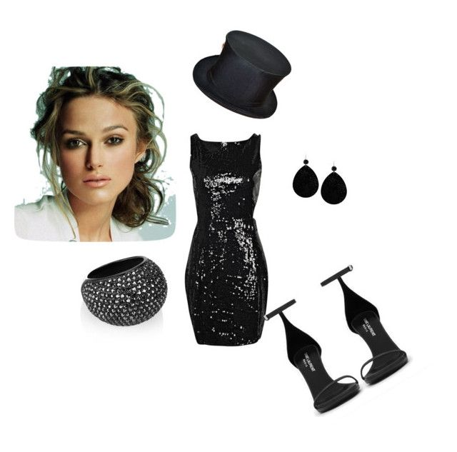 Untitled #6 by abby-mercier on Polyvore featuring polyvore, fashion, style, Boohoo, Yves Saint Laurent and Swarovski