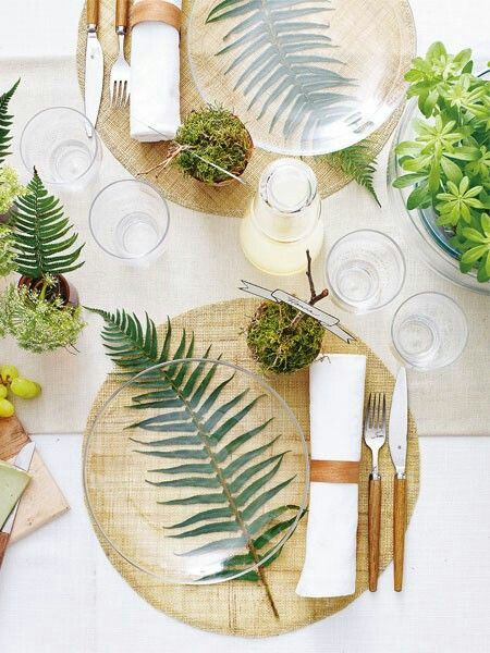 Looks gorgeous. You could even write the guests name on the glass plate?
