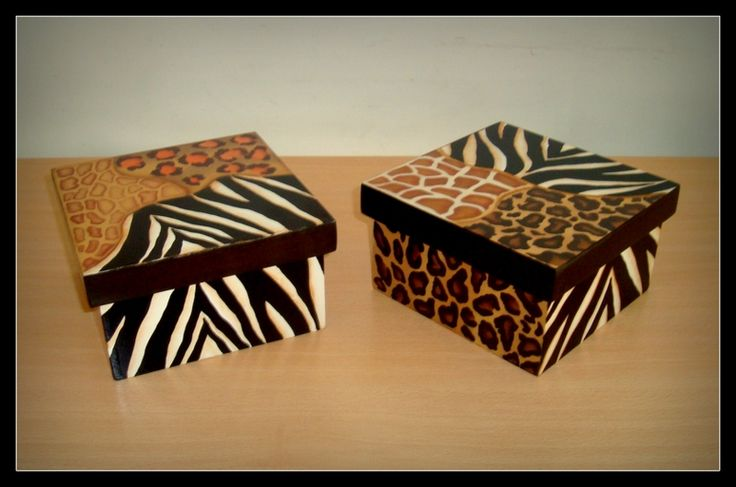 Cajas Animal print mix
