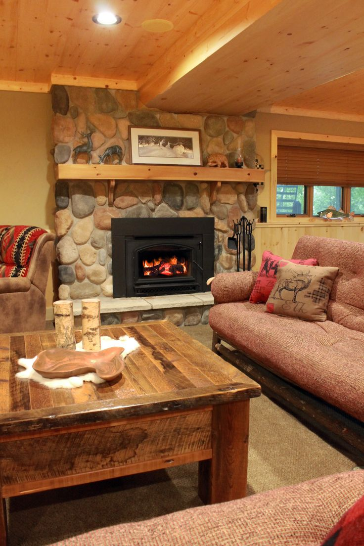 Great This Rustic Rec Room/basement Is Fully Furnished And Designed By Roughing  It In Style