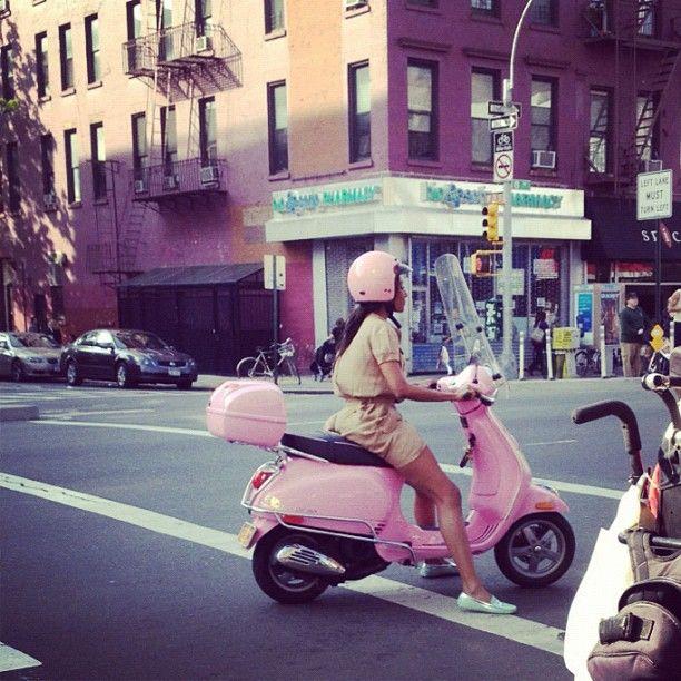 pink Vespa (from gingerandliz instagram)