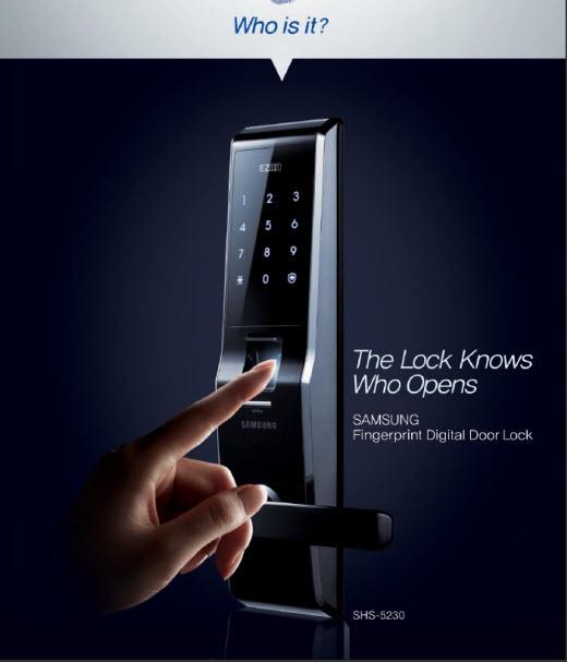 Samsung Ezon SHS-5230 Serrure Biométrique à empreinte digitale