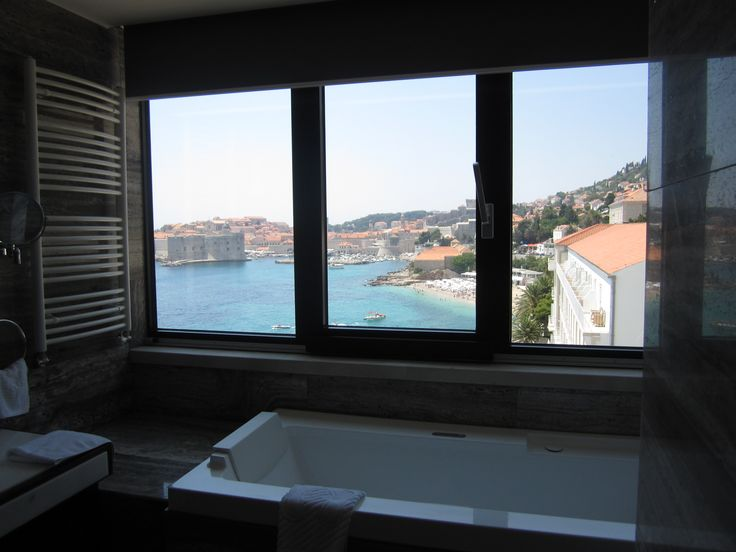 Bathroom with a view - Excelsior Hotel, Dubrovnik, Croatia