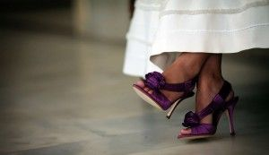 Purple Wedding Shoes - I Should Have Done This