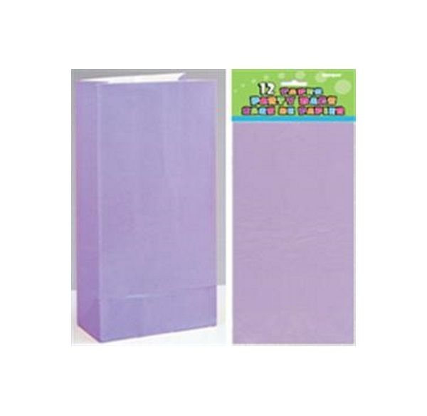 Lavender Paper Party Loot Bags | Paper Party Bags | Party Decorations and Supplies