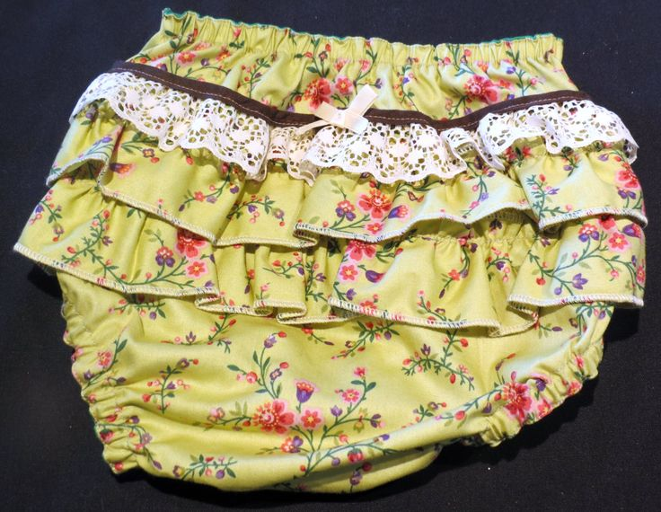 Ruffle Bottom Bloomers, Size 0 by PrettyLittlePeachs on Etsy