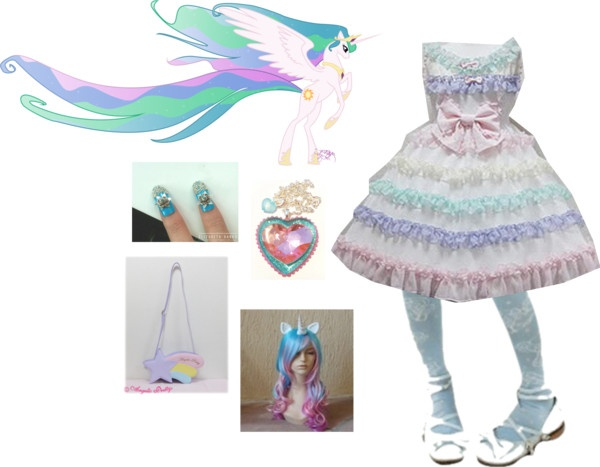 Princess Celestia Lolita My Little Pony Friendship Is Magic Inspired Outfit Inspired Outfits