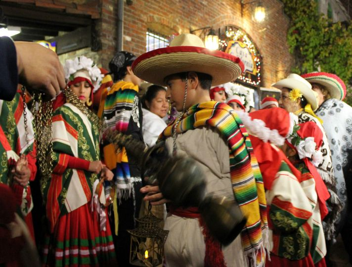Las Posadas has been an annual tradition along downtown's Olvera Street since the 1930s, and is a nightly presentation of the nine-day journey of Mary and Joseph to Bethlehem portrayed with singing, a candlelight procession and the breaking of a piñata each evening. Placita Olvera Christmas | Discover Los Angeles