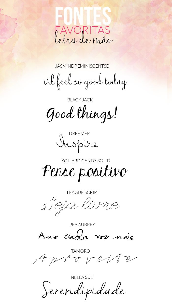 Fontes Favoritas: Letra de mão | Blog da Laura Guernett {Free Fonts with links}