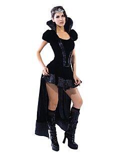 sexig+Retro+drottning+svart+klänning+halloween+kostym+(2pieces)+–+SEK+Kr.+281