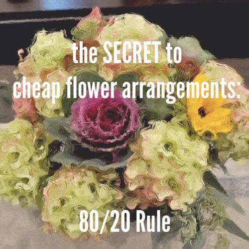 The secret to DIY cheap flower arrangements via http://lifeovereasy.com/