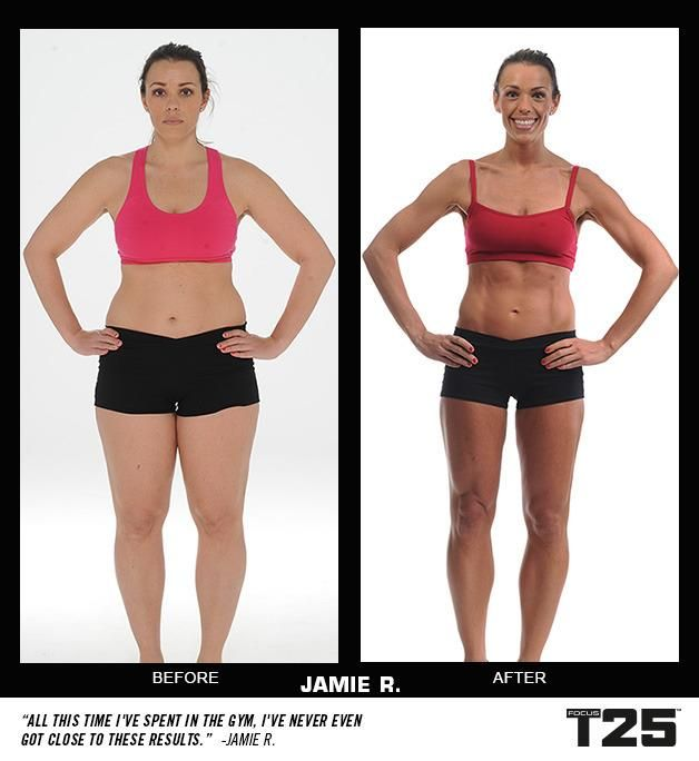 Meet Jamie and check out her results from Focus T25!