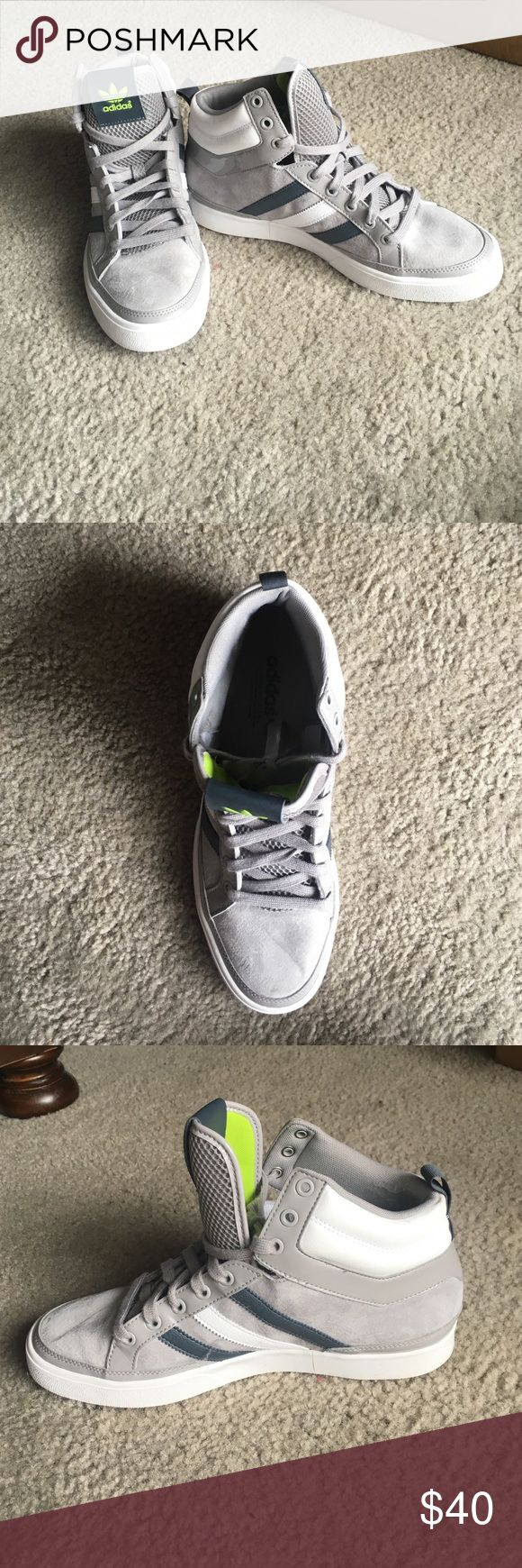Men's high top adidas shoes Men's grey and white high top adidas shoes like new, used once, like new adidas Shoes Sneakers