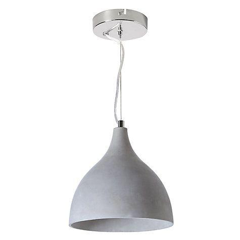 Buy John Lewis Parry Concrete Pendant Light Online at johnlewis.com