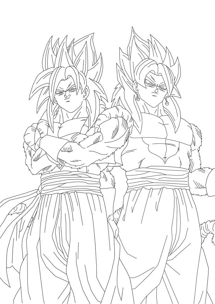 Vegito Ssj4 Coloring Pages Coloring Pages Color Zelda Characters