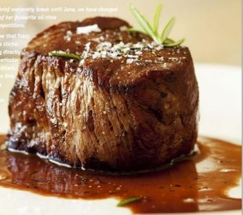 Medallions of Fillet of Beef with Red Wine Sauce