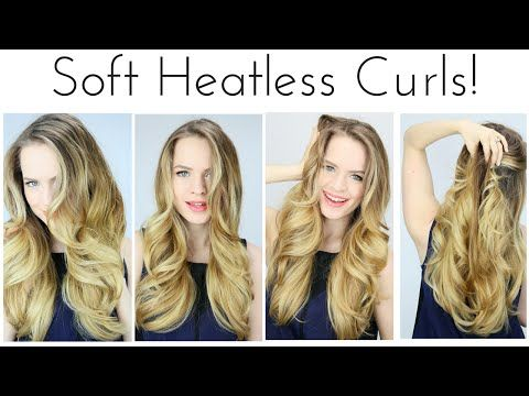 ▶ HEATLESS Soft Curls Inspired by the Grammys!! | KMHaloCurls - YouTube