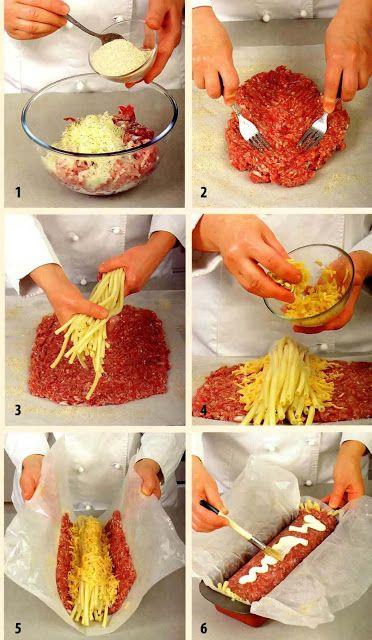 250 g bravčového mäso 250 g hovädzie rezne 1 vajce 100 g tvrdý syr 150 g…