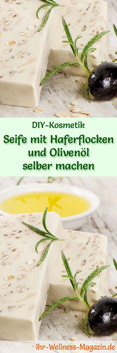 DIY-Kosmetik-Rezept: Seife mit Haferflocken und Olivenöl selber machen - #diy #seife #selbermachen