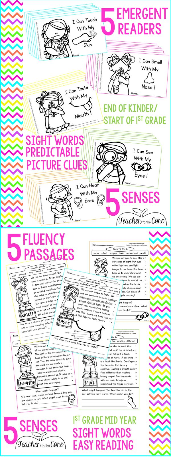 5 Senses reading pack that will make them BEG to read. This pack has true
